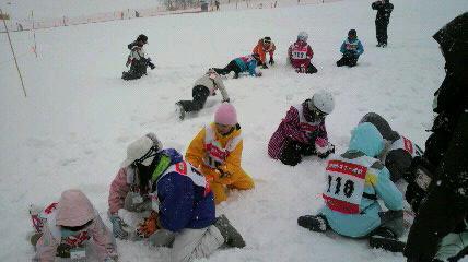 雪上ゲーム中