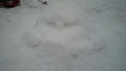 雪像ゲーム中