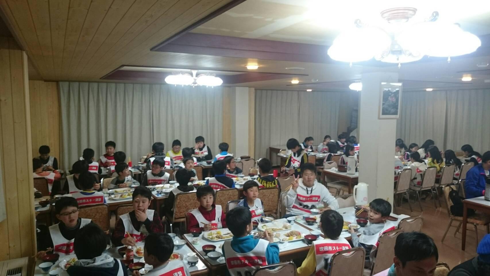 2017ジュニア初日夕食♪